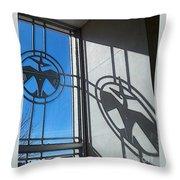 Thunderbird Motif Throw Pillow