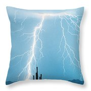 Thunderbolts From Heaven Throw Pillow