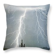 Thunderbolts From  The Heavens Above Throw Pillow