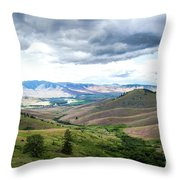 Thunderclouds Over The Hills Throw Pillow