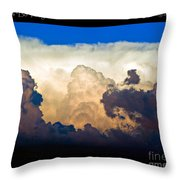 Thunderhead Cloud Color Poster Print Throw Pillow