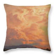 Thunderheads Throw Pillow