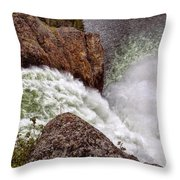 Thundering Waters Throw Pillow
