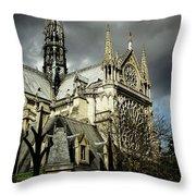 Thunderous Notre Dame Throw Pillow