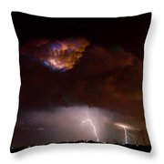 Thunderstorm Boulder County 08-15-10 Throw Pillow