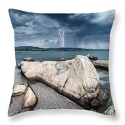 Thunderstorm  Throw Pillow by Evgeni Dinev