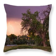 Thunderstorm In The Woods Throw Pillow
