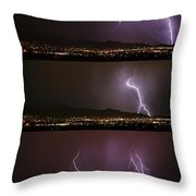 Thunderstorm Sequence Throw Pillow
