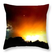 Thunderstorm Sunset Throw Pillow