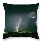 Thunderstorm View From North Scottsdale Arizona Throw Pillow