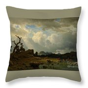 Thunderstorm_in_the_rocky_mountains Throw Pillow