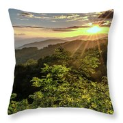 Thunderstruck Sunset Throw Pillow