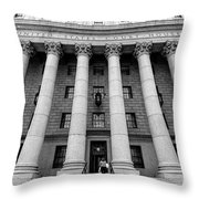 Thurgood Marshall United States Courthouse, Lower Manhattan New  Throw Pillow