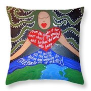 Tiamat Throw Pillow