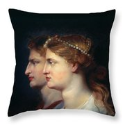 Tiberius & Agrippina Throw Pillow