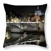 Tiber's Reflection Of Religion Throw Pillow