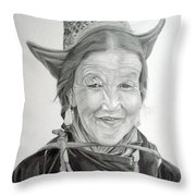 Tibetan Delight Throw Pillow