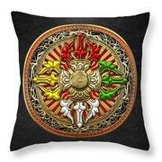 Tibetan Double Dorje Mandala Throw Pillow