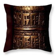 Tibetan Prayer Wheel Throw Pillow