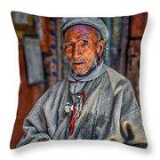 Tibetan Refugee Throw Pillow