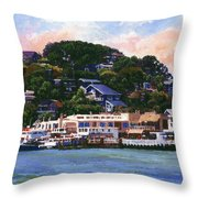 Tiburon California Waterfront Throw Pillow