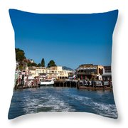 Tiburon Waterfront Throw Pillow