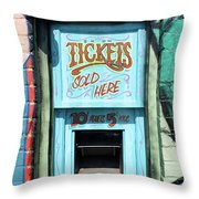 Ticket Window For Show Tickets Throw Pillow
