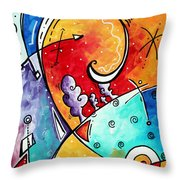 Tickle My Fancy Original Whimsical Painting Throw Pillow