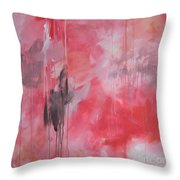 Tickled Pink 1 Throw Pillow by Kristen Abrahamson