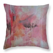 Tickled Pink 3 Throw Pillow by Kristen Abrahamson