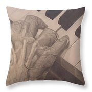 Tickling The Ivory Throw Pillow