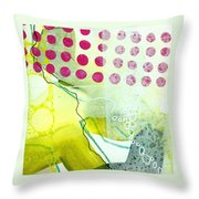 Tidal 19 Throw Pillow by Jane Davies