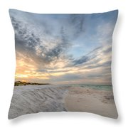 Tidal Edge Throw Pillow