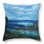 Tidal Eye Throw Pillow by Cynthia Adams