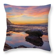 Tidal Pool At Sunset Throw Pillow by Dmytro Korol