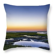 Tidal Pool Sunset Throw Pillow