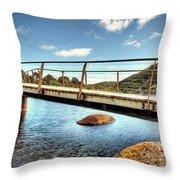 Tidal River Bridge Throw Pillow