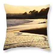 Tidal Sunset Throw Pillow