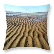 Tidal Trails Throw Pillow