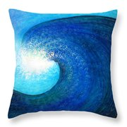 Tidal Wave. Power And Beauty Throw Pillow