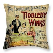 Tiddledy Winks Throw Pillow