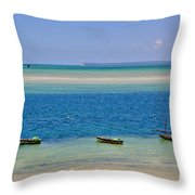 Tide Colours Throw Pillow