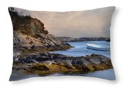 Tide Line Throw Pillow