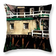 Tide Out At Kennebunkport Throw Pillow