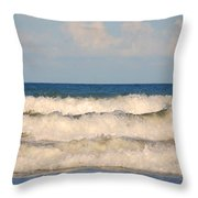 Tide Rolling To The Shores Throw Pillow