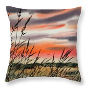 Tideland Sunset Throw Pillow