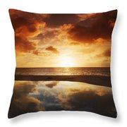 Tidepool At Sunset Throw Pillow
