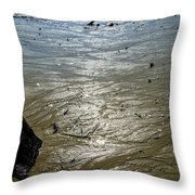 Tides Out After The Storm Throw Pillow