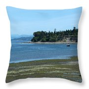 Tide's Out Throw Pillow
