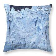 Tidewater Glacier In Glacier Bay Throw Pillow